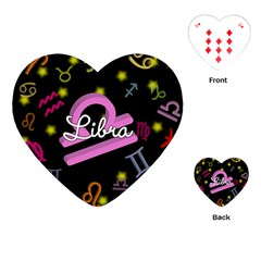 Libra Floating Zodiac Name Playing Cards (heart)