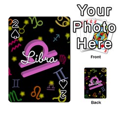 Libra Floating Zodiac Name Playing Cards 54 Designs