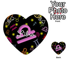 Libra Floating Zodiac Name Playing Cards 54 (heart)