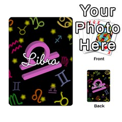 Libra Floating Zodiac Name Multi-purpose Cards (Rectangle)