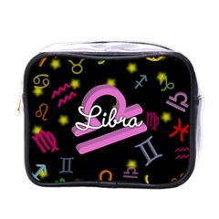 Libra Floating Zodiac Name Mini Toiletries Bags