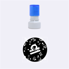 Libra Floating Zodiac Name Rubber Round Stamps (Small)