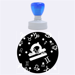 Libra Floating Zodiac Name Rubber Round Stamps (Large)