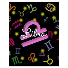 Libra Floating Zodiac Name Drawstring Bag (Large)
