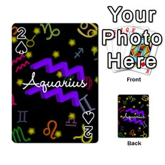 Aquarius Floating Zodiac Name Playing Cards 54 Designs