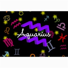 Aquarius Floating Zodiac Name Collage 12  x 18