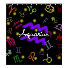 Aquarius Floating Zodiac Name Shower Curtain 66  x 72  (Large)