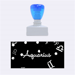 Aquarius Floating Zodiac Name Rubber Stamps (Medium)