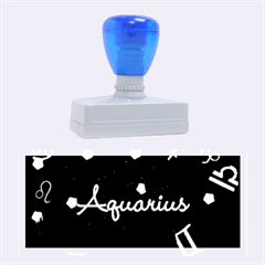 Aquarius Floating Zodiac Name Rubber Stamps (Large)