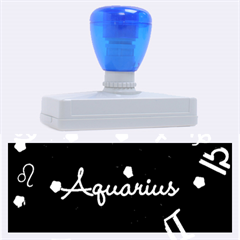 Aquarius Floating Zodiac Name Rubber Address Stamps (XL)