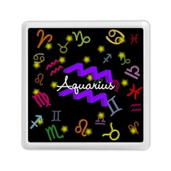 Aquarius Floating Zodiac Name Memory Card Reader (Square)