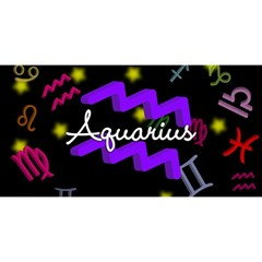 Aquarius Floating Zodiac Name You Are Invited 3d Greeting Card (8x4)