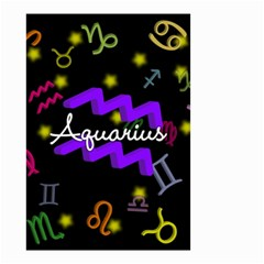 Aquarius Floating Zodiac Name Small Garden Flag (Two Sides)