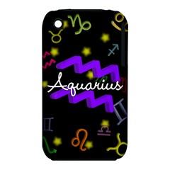 Aquarius Floating Zodiac Name Apple iPhone 3G/3GS Hardshell Case (PC+Silicone)