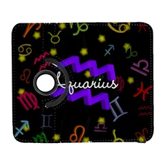 Aquarius Floating Zodiac Name Samsung Galaxy S  III Flip 360 Case