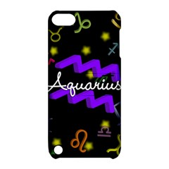 Aquarius Floating Zodiac Name Apple iPod Touch 5 Hardshell Case with Stand