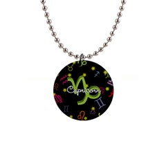 Capricorn Floating Zodiac Name Button Necklaces