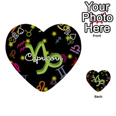 Capricorn Floating Zodiac Name Playing Cards 54 (Heart)