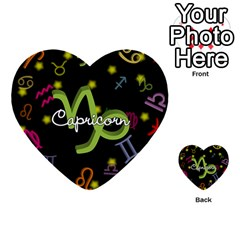 Capricorn Floating Zodiac Name Multi Purpose Cards (heart)