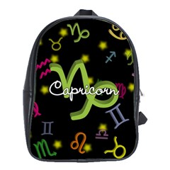 Capricorn Floating Zodiac Name School Bags(Large)