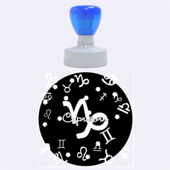Capricorn Floating Zodiac Name Rubber Round Stamps (large)