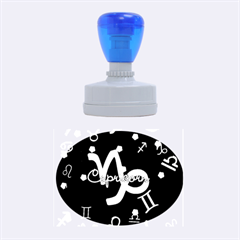 Capricorn Floating Zodiac Name Rubber Oval Stamps