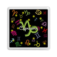 Capricorn Floating Zodiac Name Memory Card Reader (square)