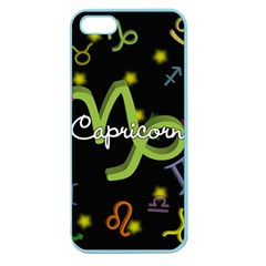 Capricorn Floating Zodiac Name Apple Seamless iPhone 5 Case (Color)