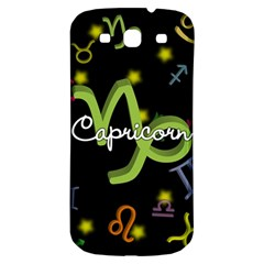 Capricorn Floating Zodiac Name Samsung Galaxy S3 S III Classic Hardshell Back Case