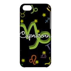 Capricorn Floating Zodiac Name Apple iPhone 5C Hardshell Case