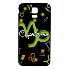 Capricorn Floating Zodiac Name Samsung Galaxy S5 Back Case (White)