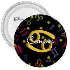 Cancer Floating Zodiac Name 3  Buttons