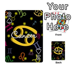 Cancer Floating Zodiac Name Playing Cards 54 Designs