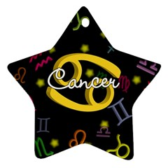 Cancer Floating Zodiac Name Star Ornament (Two Sides)