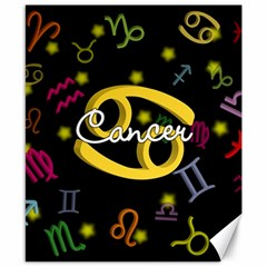 Cancer Floating Zodiac Name Canvas 8  x 10