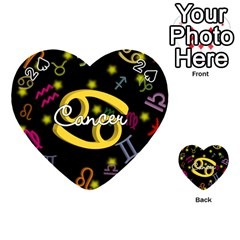 Cancer Floating Zodiac Name Playing Cards 54 (Heart)