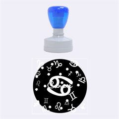 Cancer Floating Zodiac Name Rubber Round Stamps (Medium)