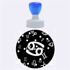 Cancer Floating Zodiac Name Rubber Round Stamps (large)