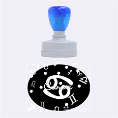 Cancer Floating Zodiac Name Rubber Oval Stamps