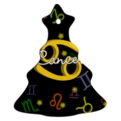 Cancer Floating Zodiac Name Christmas Tree Ornament (2 Sides)