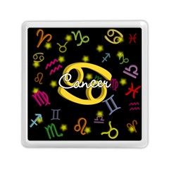 Cancer Floating Zodiac Name Memory Card Reader (Square)