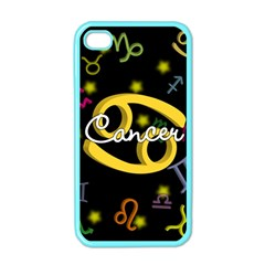 Cancer Floating Zodiac Name Apple iPhone 4 Case (Color)