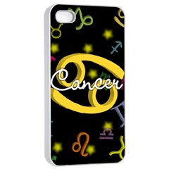 Cancer Floating Zodiac Name Apple iPhone 4/4s Seamless Case (White)