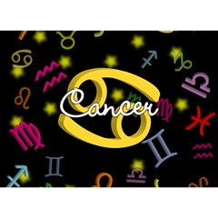 Cancer Floating Zodiac Name Birthday Cake 3D Greeting Card (7x5)