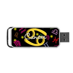 Cancer Floating Zodiac Name Portable USB Flash (One Side)