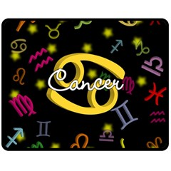 Cancer Floating Zodiac Name Double Sided Fleece Blanket (medium)