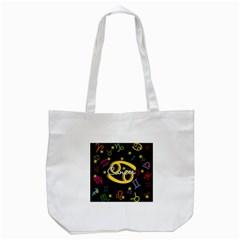 Cancer Floating Zodiac Name Tote Bag (White)