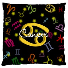 Cancer Floating Zodiac Name Standard Flano Cushion Cases (One Side)