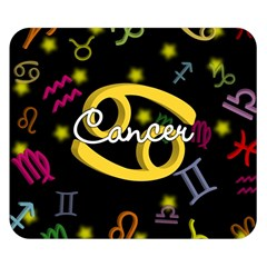 Cancer Floating Zodiac Name Double Sided Flano Blanket (Small)