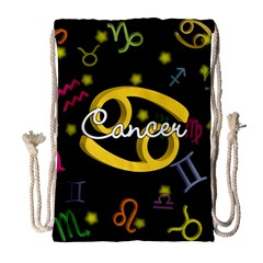 Cancer Floating Zodiac Name Drawstring Bag (Large)